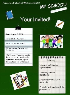 Invitation For Welcome Night