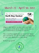 Go Green Initiative Earth Day Contest's thumbnail