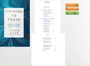 Download ebook Nothing to Prove: Why We Can Stop Trying So Hard by Jennie Allen pdf mobi's thumbnail