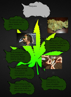 Weed poster, by jessica, jared, and nick