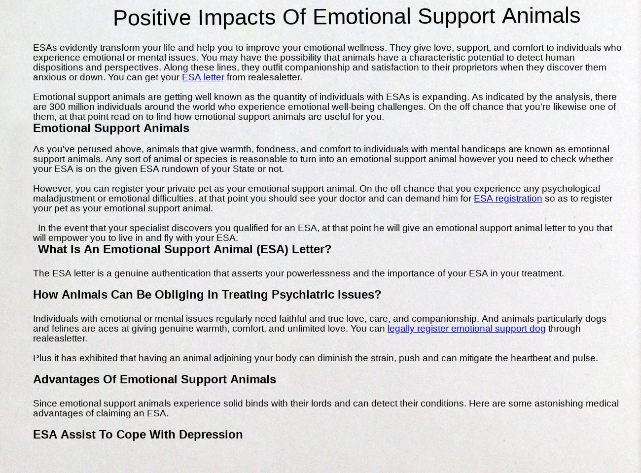 Positive Impacts Of Emotional Support Animals