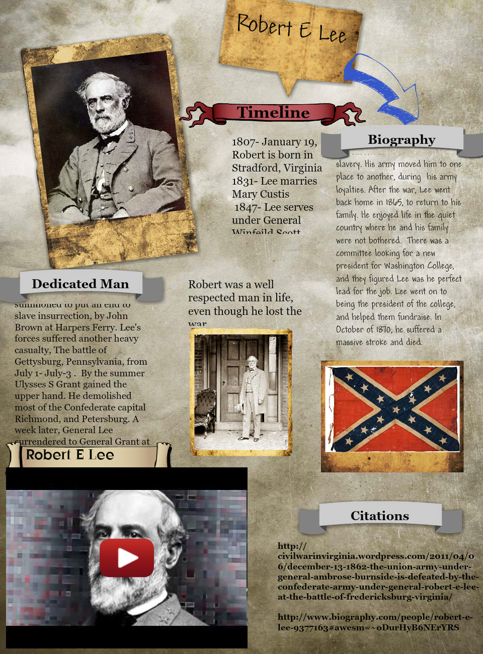 [2014] Jesse Dembinski (Sixth Grade, Doherty 6th): Robert E Lee/ Jesse