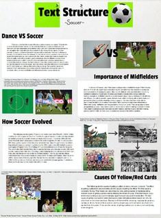 Text Structure - Soccer VS Dance