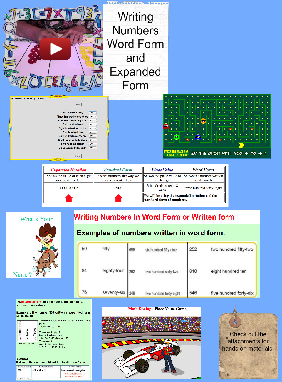 Writing numbers in words and expanded notacion