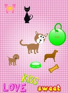 Dogs and a cat's thumbnail