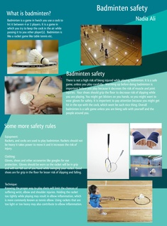 Badminton Safety