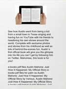 Download Austin Mahone: Just How It Happened: My Official Story by Austin Mahone pdf epub txt mobi d's thumbnail
