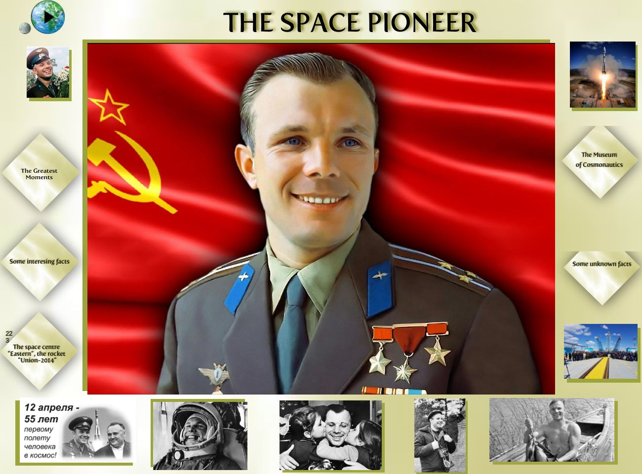 Yuri Gagarin, the First Russian Space Pioneer