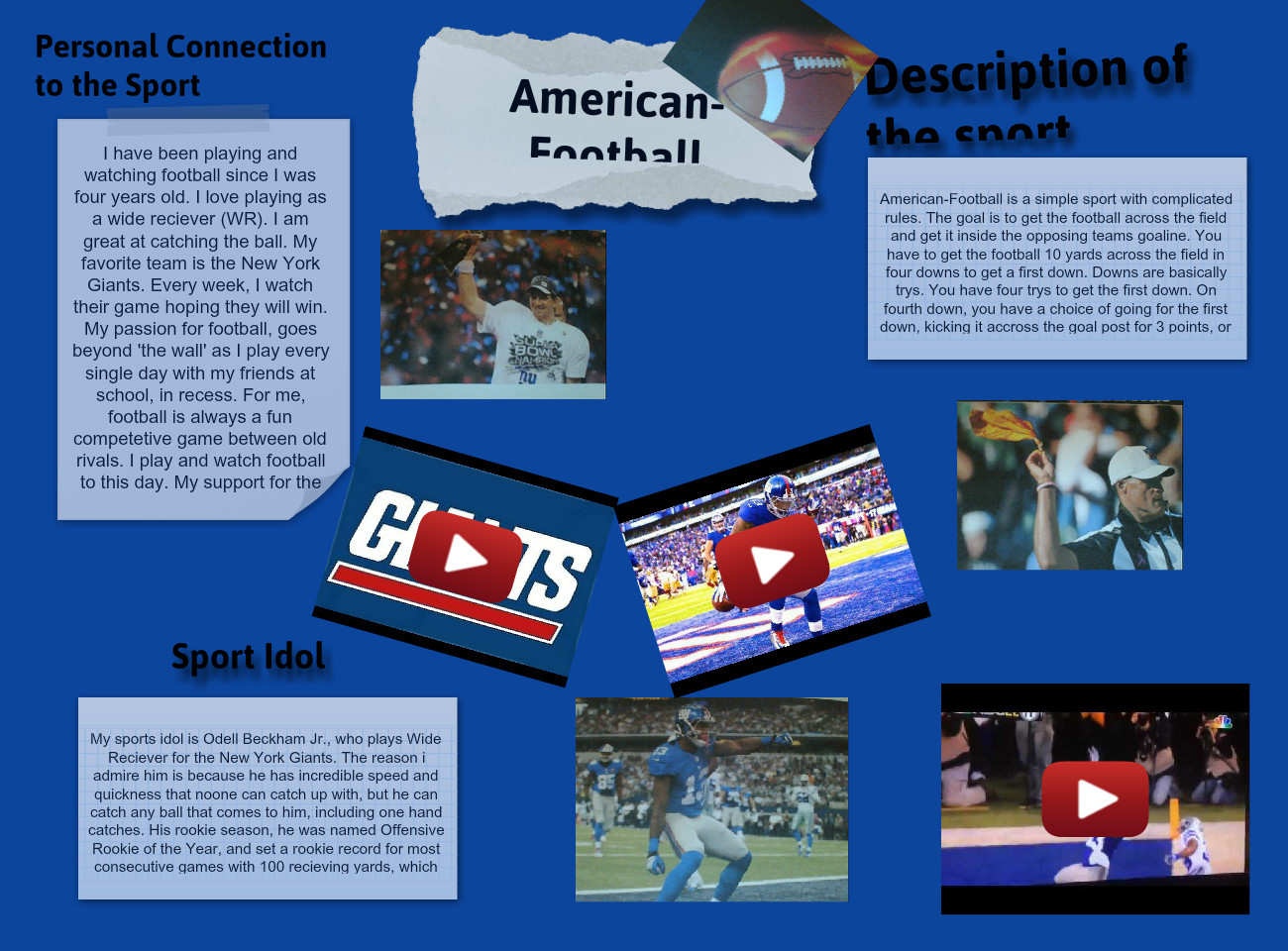 [2015] NASSERY HASHMATULLAH (624-ELA): Sport Reflection Assignment for Physical Education: American
