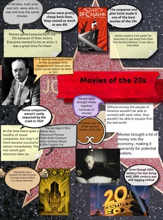 Impact of films in the 1920s