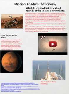 Mission To Mars: Astronomy