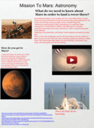 Mission To Mars: Astronomy's thumbnail