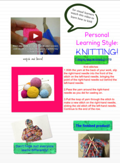 knitting personal learning style