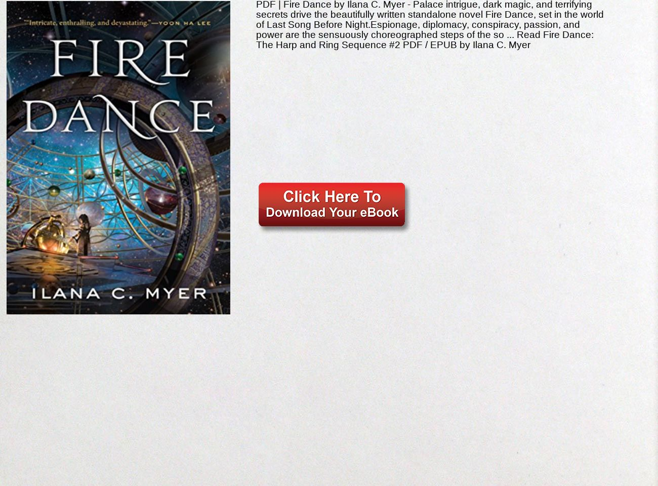 PDF Fire Dance Ilana C  Myer The Harp and Ring Sequence #2