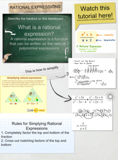 Rational Expressions- Rachel and Beni