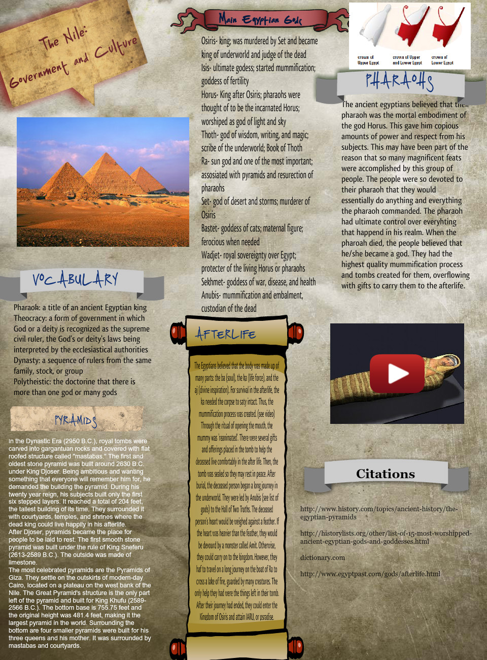 The Nile (history project)