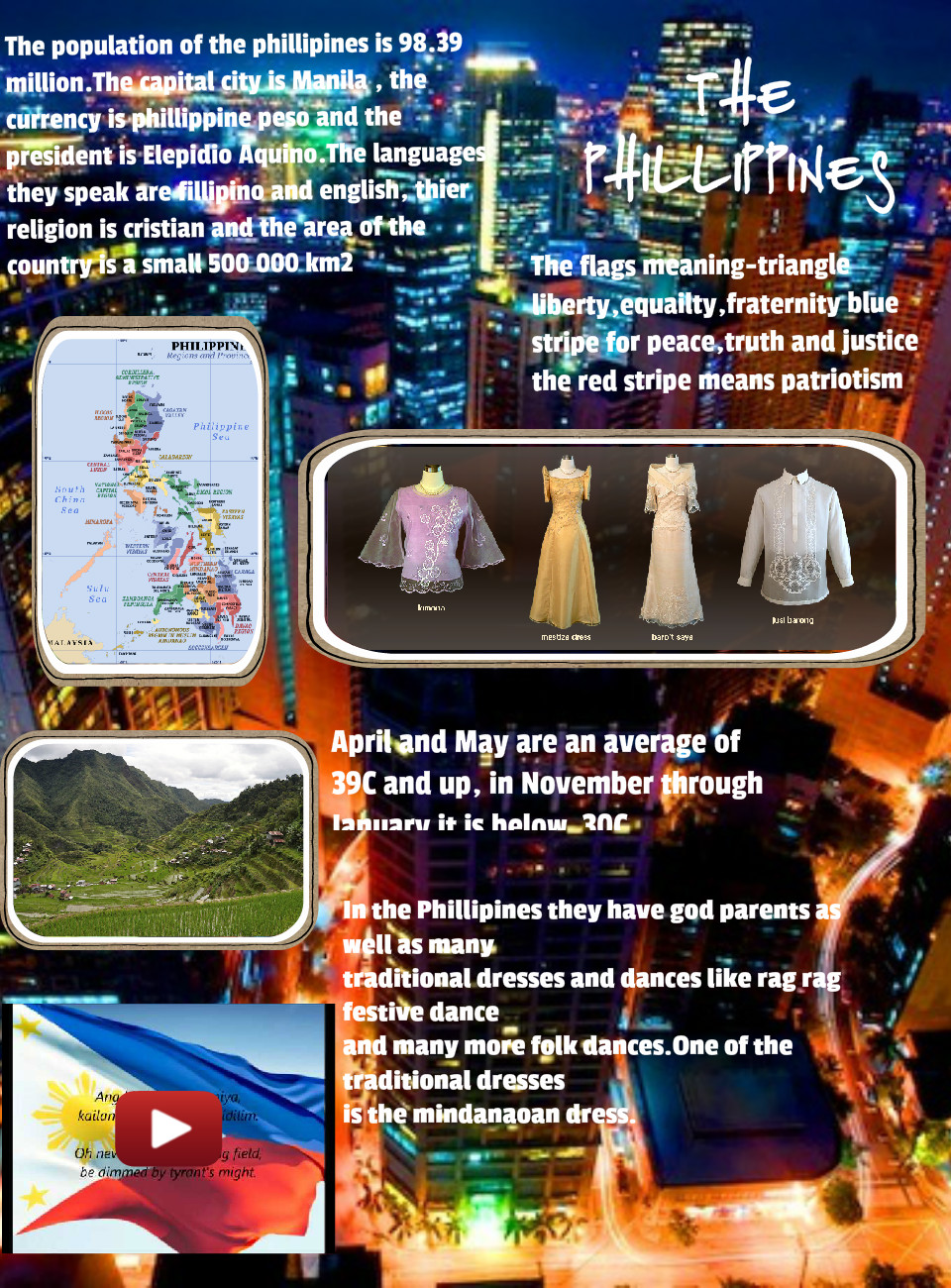 [2015] Ffion Ankers (Year 6): THE PHILLIPINES