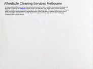 Affordable Cleaning Services Melbourne's thumbnail