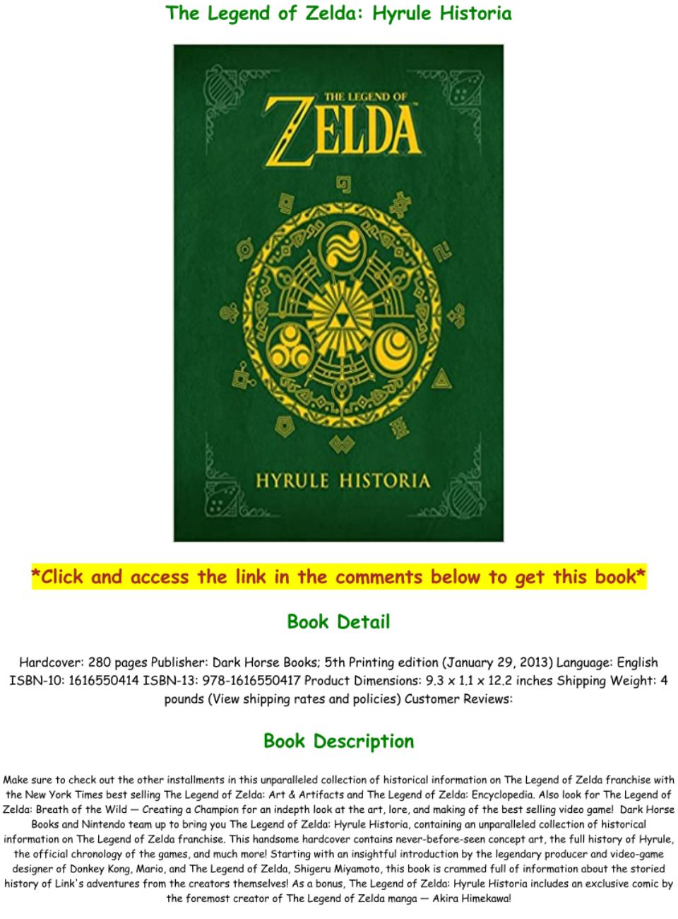 Download Pdf The Legend Of Zelda Hyrule Historia Full Pdf Text Images Music Video Glogster Edu Interactive Multimedia Posters