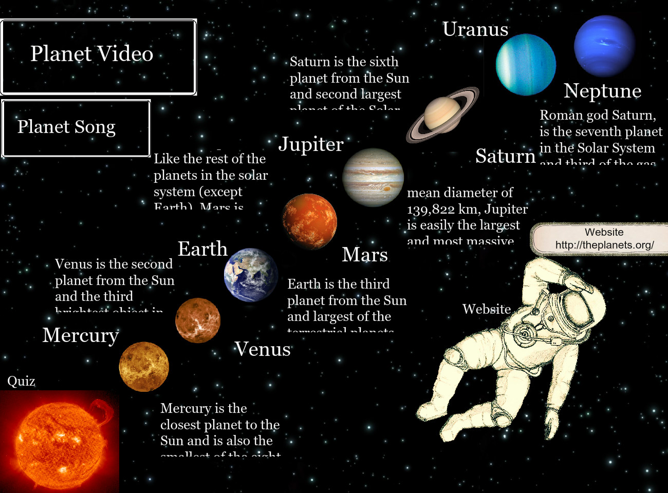Mercury is the closest planet to the Sun 7