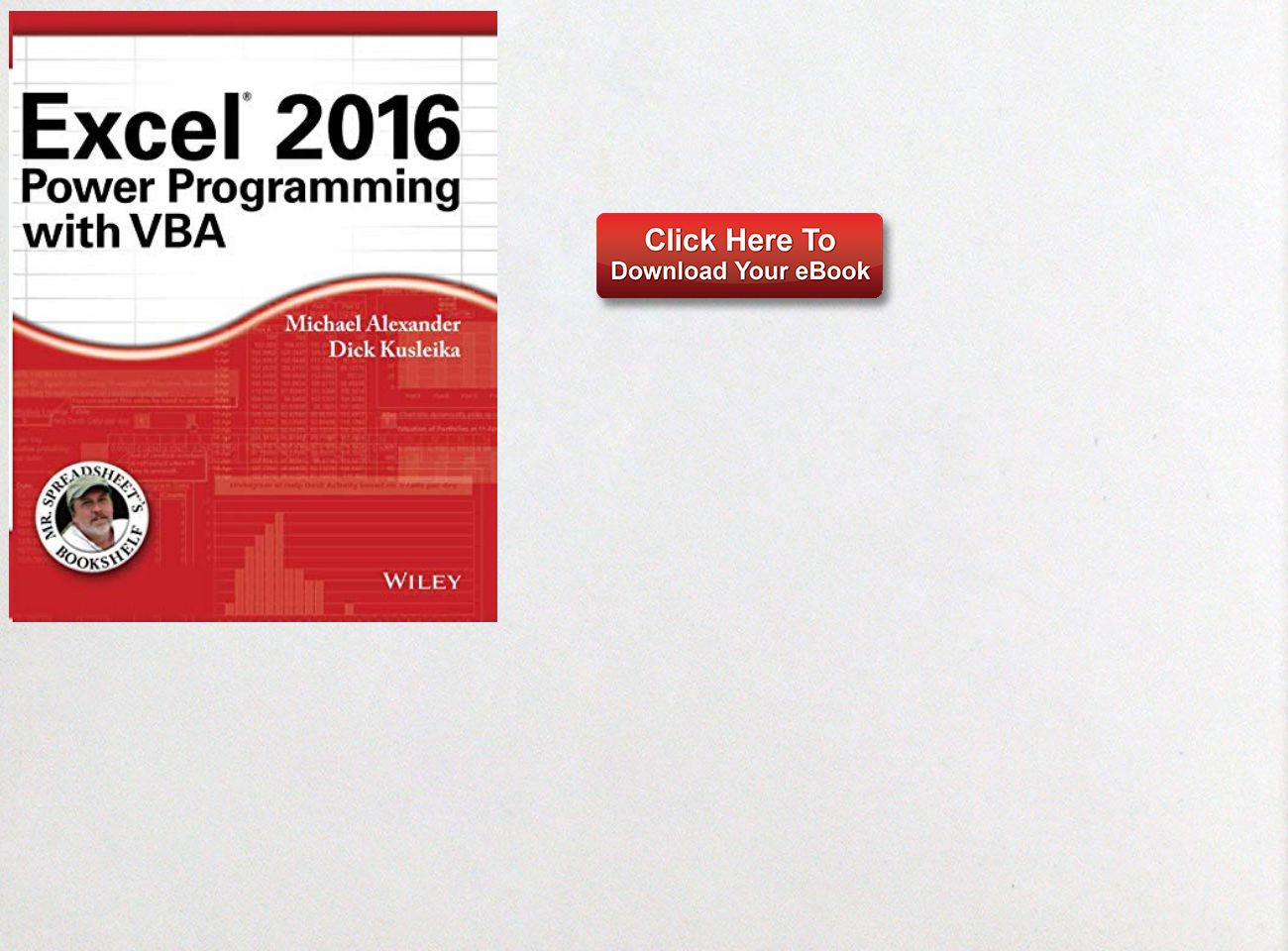 Download Ebook Excel 2016 Power Programming With Vba Mr