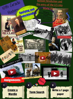 Russion Revolution and the entry of the U.S into World War I