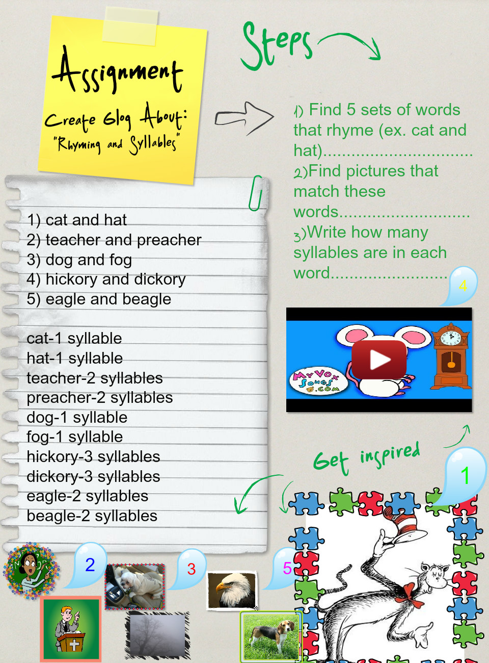 Rhyming and Syllables (Assignment), Grammar: rhymes, syllables | Glogster  EDU - Interactive multimedia posters
