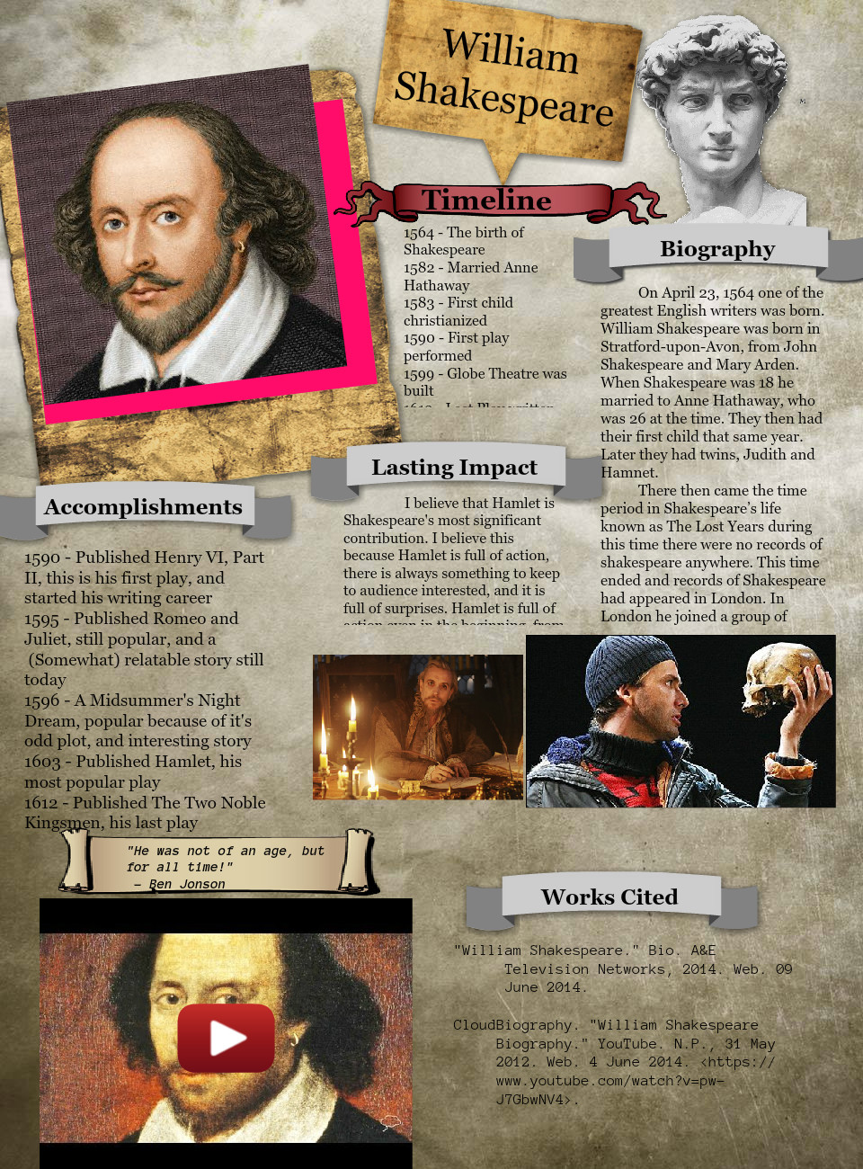 william shakespeare plays youtube