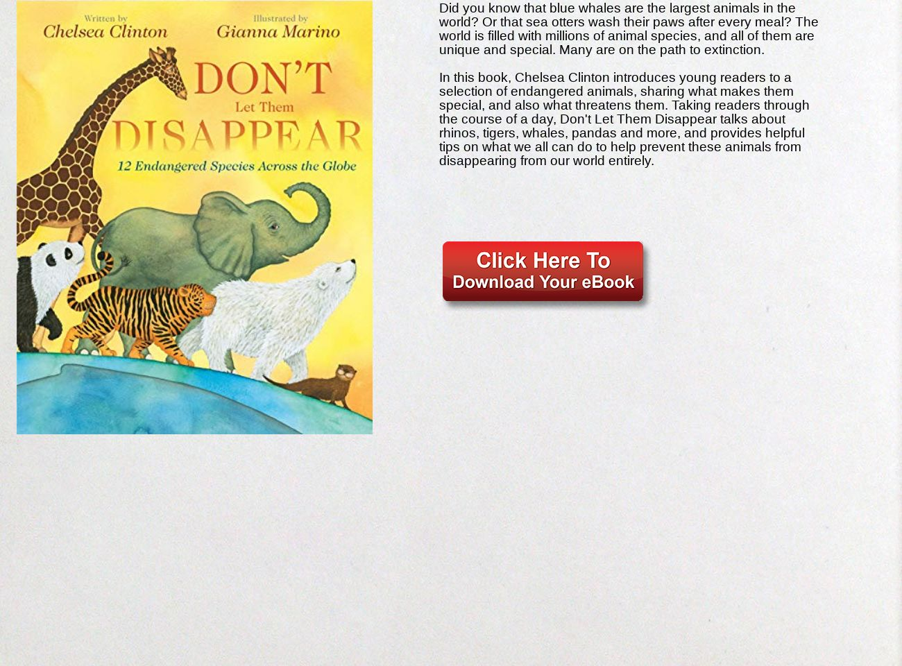 Download Ebook Don't Let Them Disappear PDF: text, images