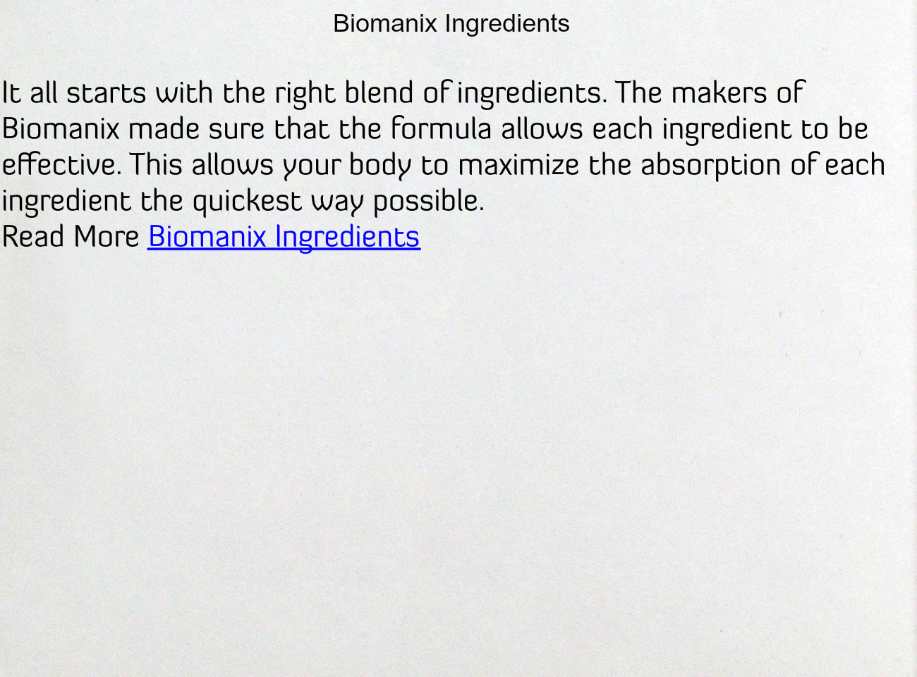biomanix ingredients text images music video glogster edu